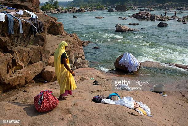 Washerwoman in Orchha