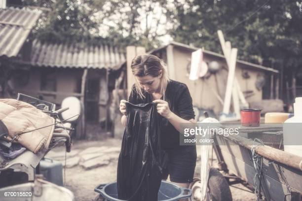 Wäsche im freien