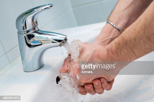 Washing hands : Stock Photo