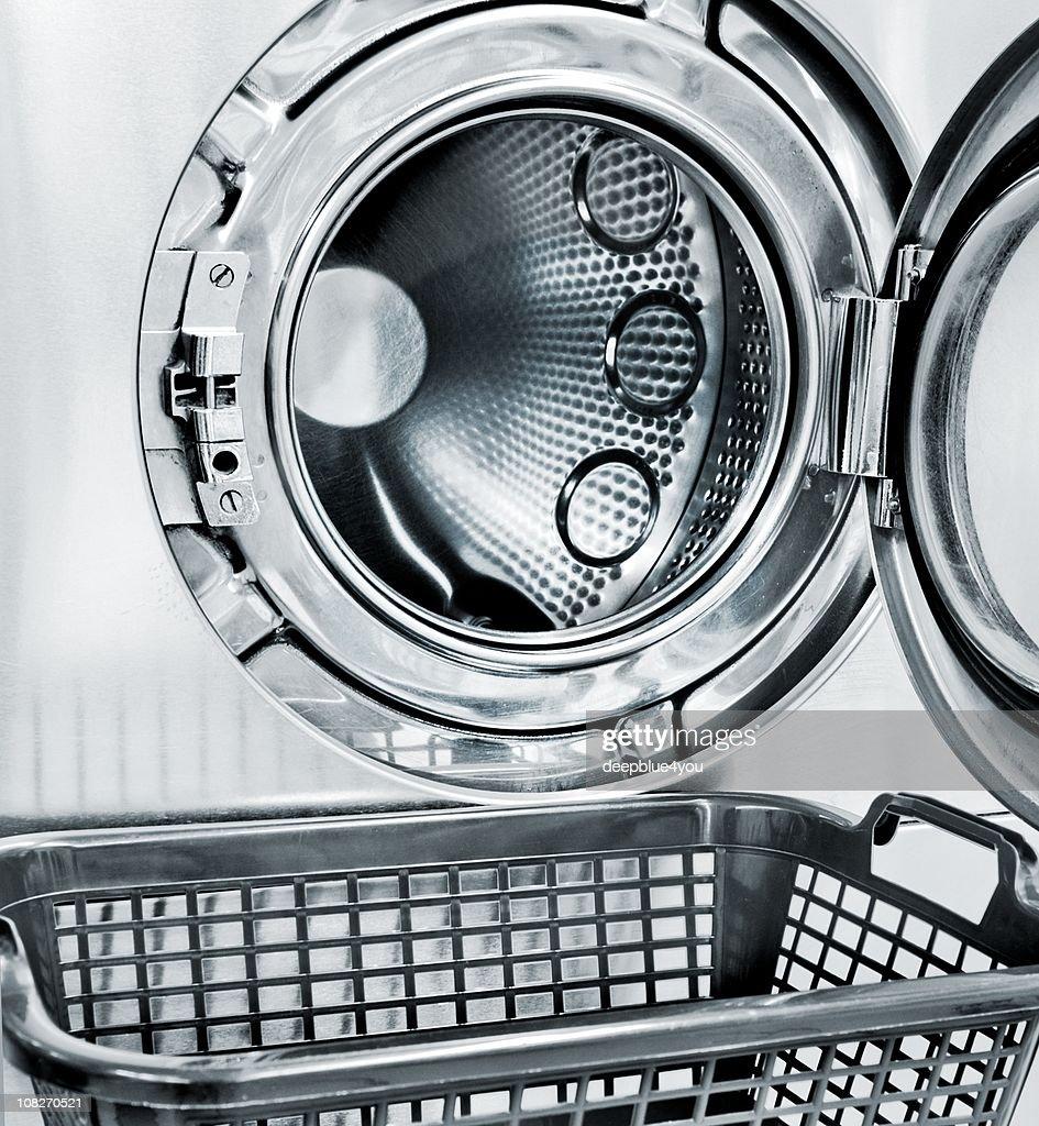 washing machine and a empty basket : Stock Photo