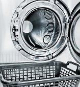 washing machine and a empty basket