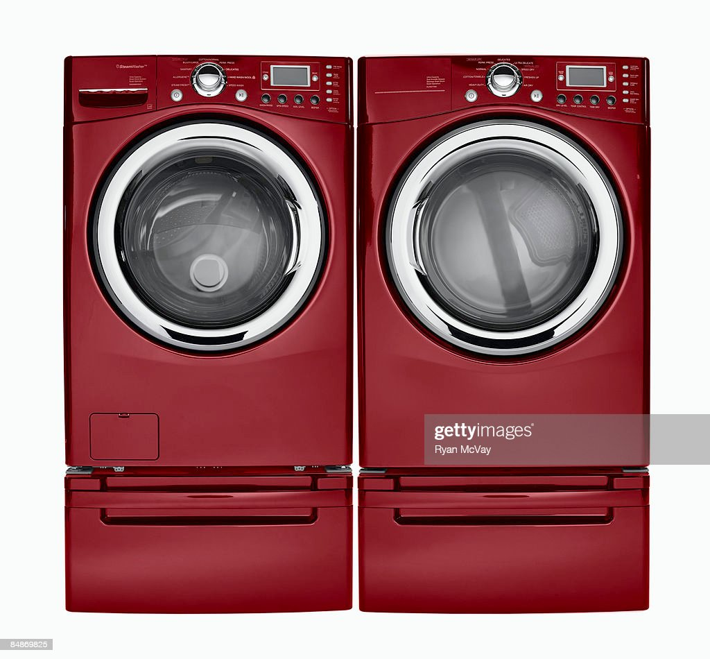 Washing machine and dryer : Stock Photo