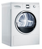 Washing machine (isolated with clipping path over white background)