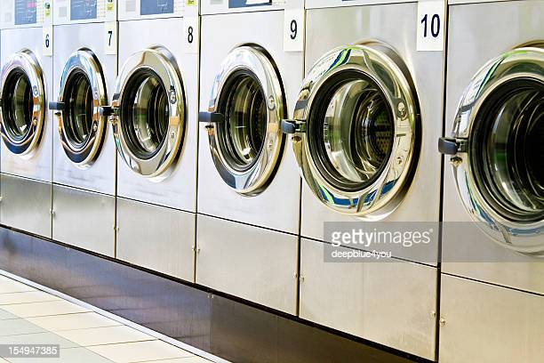 Washing machines in a public launderette