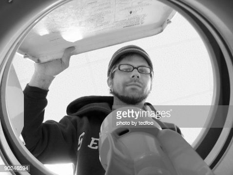 Washing machine's point of view : Stock Photo