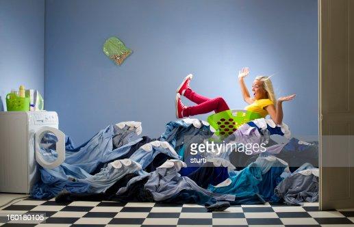 washing overload : Stock Photo