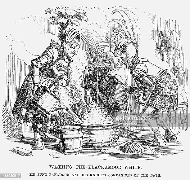 'Washing the Blackamoor white' 1858 'Sir Jung Bahadoor and his Knights Companions of the Bath' Sir Jung Bahadoor a Nepalese prince seems to have had...