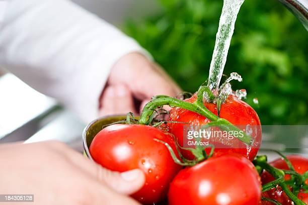 洗浄トマト