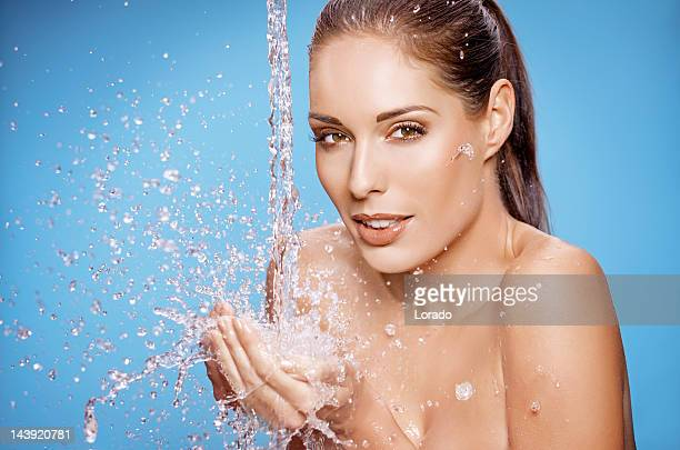 washing woman