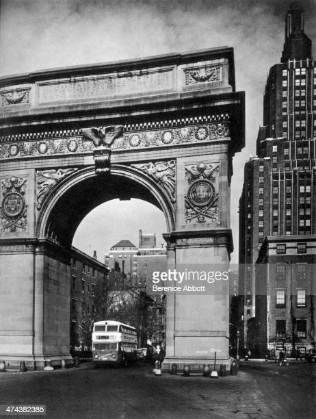 Washington Arch Looking Up Fifth Avenue Greenwich Village New York circa 1945
