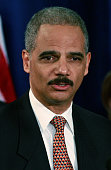 Washington attorney Eric Holder Presidentelect Barack Obama's choice for attorney general speaks at a press conference at the Hilton Hotel December...