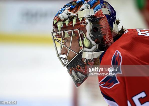 Washington Capitals goalie Justin Peters replaced Braden Holtby in goal after he allowed three first period goals against the Nashville Predators on...