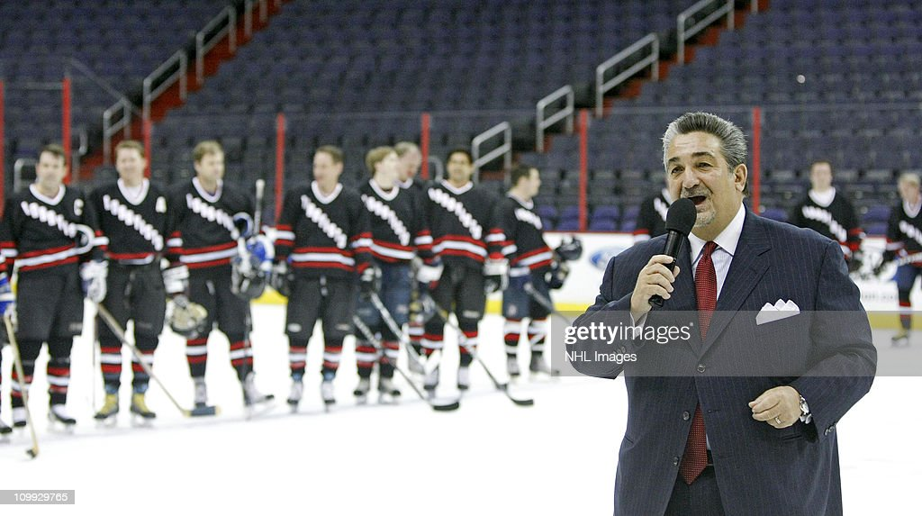 Washington Capitals owner Ted Leonsis speaks at the Congressional Hockey Challenge charity game to benefit Fort Dupont Ice Hockey Club at the Verizon Center on March 10, 2011 in Washington, DC.