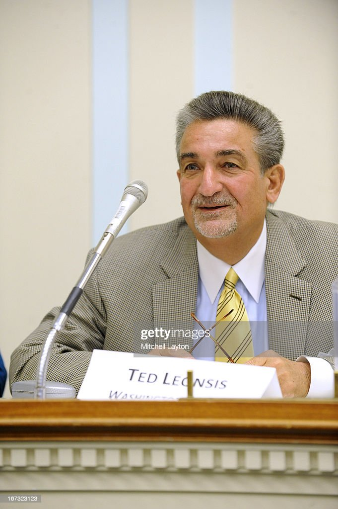 Washington Capitals owner Ted Leonsis speaks during a Congressional Hockey Caucus briefing at the Rayburn Building on April 24, 2013 in Washington, DC.