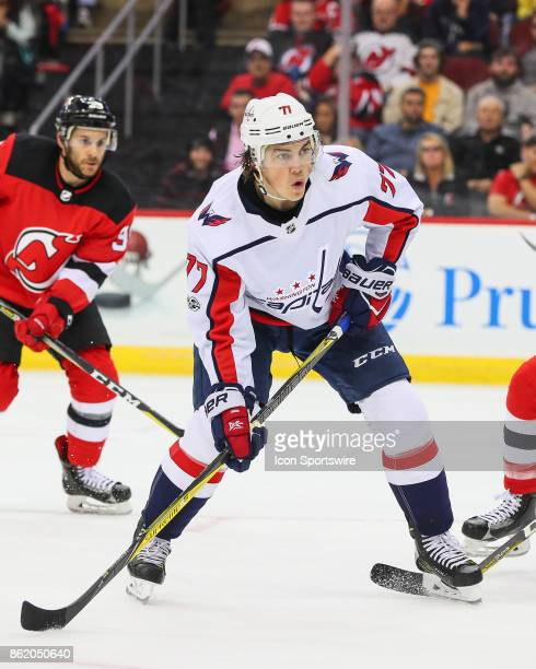 Washington Capitals right wing TJ Oshie skates during the National Hockey League game between the New Jersey Devils and the Washington Capitals on...