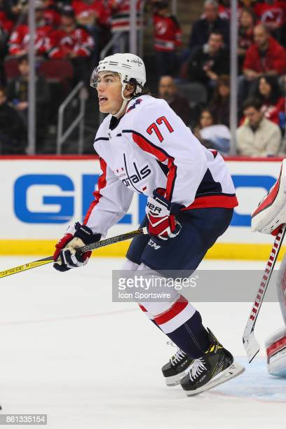 Washington Capitals right wing TJ Oshie skates during the second period of the National Hockey League game between the New Jersey Devils and the...
