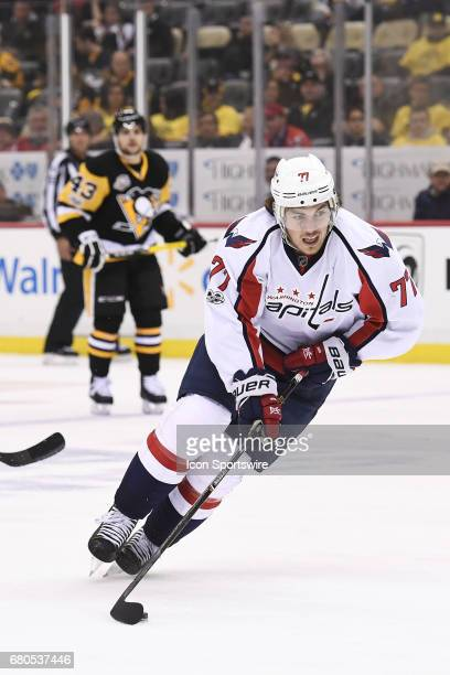 Washington Capitals right wing TJ Oshie skates with the puck during the third period in Game Six of the Eastern Conference Second Round in the 2017...