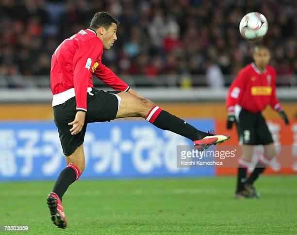 Washington Cerqueira of Urawa Red Diamonds takes a shot during the FIFA Club World Cup match for third place between Etoile Sportive du Sahel and...