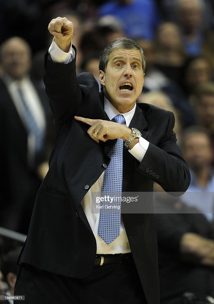 Washington coach Randy Wittman directed his players in the fourth quarter. The Washington Wizards defeated the Denver Nuggets 112-108 at the Pepsi Center Friday night, January 18, 2013. Karl Gehring/The Denver Post via Getty Images