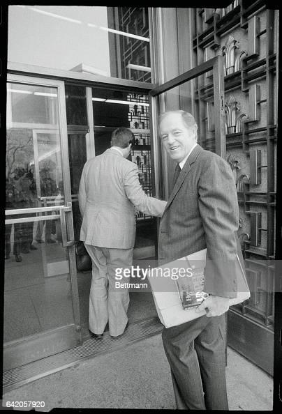 Convicted Watergate burglar E Howard Hunt arrives at the United States District Court to be put on the stand in the Watergate coverup trail as a...