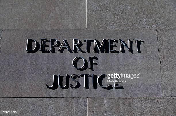 Washington DC 1995 United States Deptartment of Justice building signs Credit Mark Reinstein