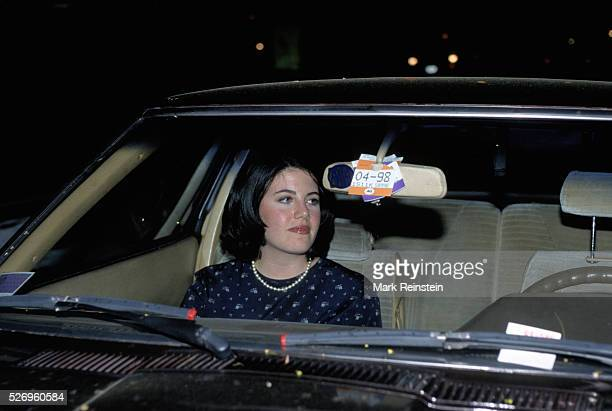 Washington DC 81998 Monica Lewinsky rides in car driven by one of her lawyers after eating out at restaurant in downtown DC Credit Mark Reinstein