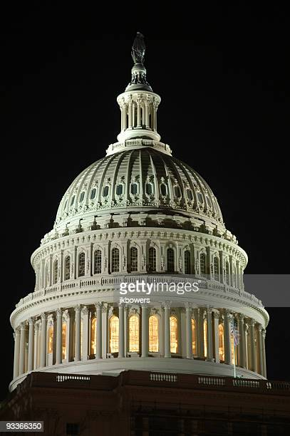 Washington DC Capitol Dome at Night