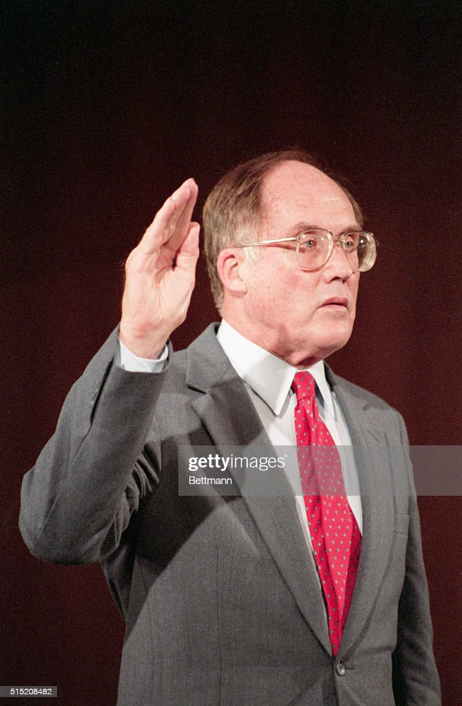 7/29/1986 Washington DC Chief Justice nominee William Rehnquist is sworn in to testify before the Senate Judiciary Committee Senate Republicans...