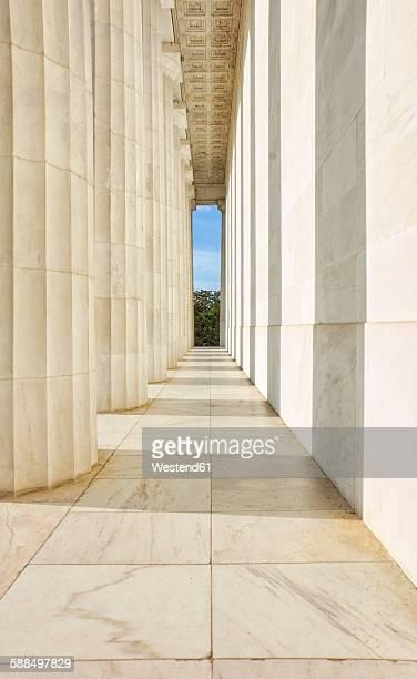 USA, Washington D.C., colonnade of Lincoln Memorial