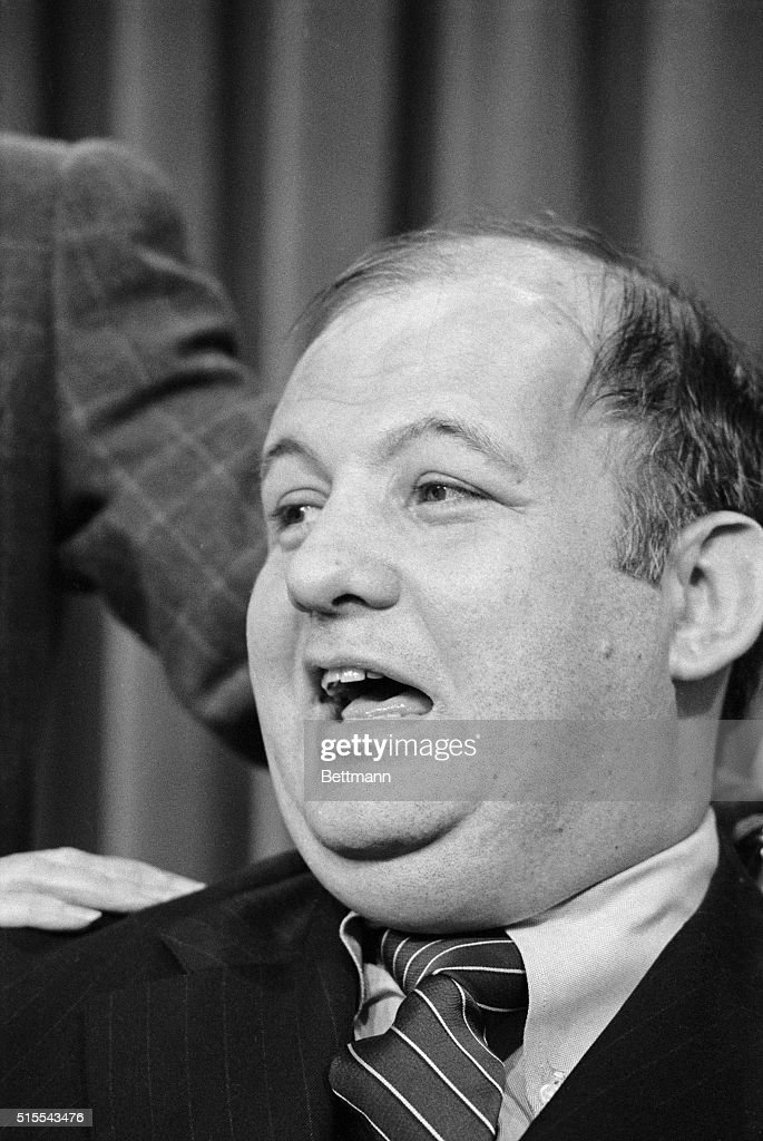 James Brady, White House Press Secretary, is on hand November 9th for a ceremony in which the refurbished White House West Wing Press Room is reopened. - washington-dc-coming-back-james-brady-white-house-press-secretary-is-picture-id515543476