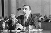 Washington DC Dr Edward Teller socalled Father of the HBomb is shown as he appeared before the Senate Foreign Relations Committee today Opposing the...