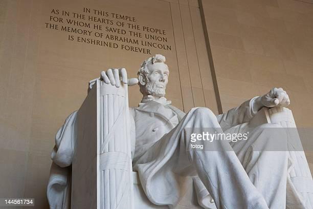 USA, Washington DC, low angle view of Lincoln memorial