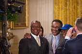Washington DC On Thursday July 21 in the East Room of the White House lr Frank White former Kansas City Royals All Star and now Royals coach...