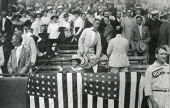 1918 Washington DC President and Mrs Woodrow Wilson attend a Congressional baseball game