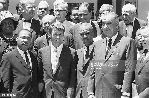 6/22/62 Washington DC President Kennedy held a special White House conference with a group of white and Negro civil rights leaders They gave the...
