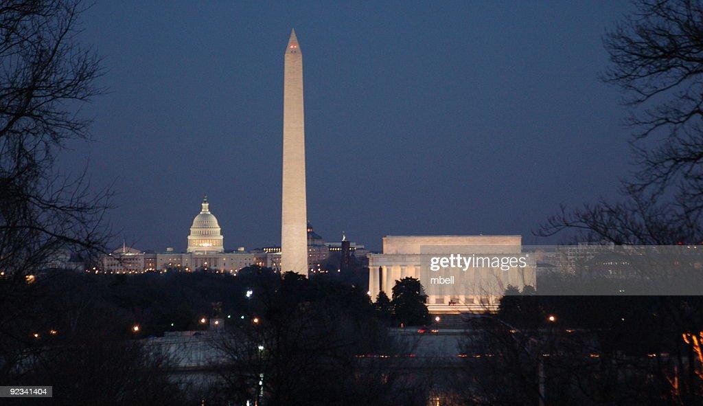Washington DC Skyline from Iwo Jima Memorial