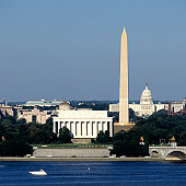 Washington DC Skyline with US Capitol Building