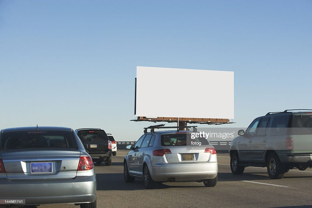 USA, Washington DC, traffic and blank billboard : Photo