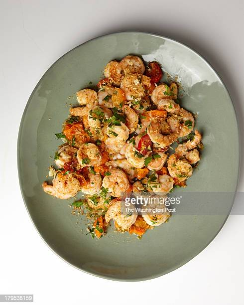 GarlicCrusted Shrimp with cherry tomatoes for FDDinner in Minutes Sept 4