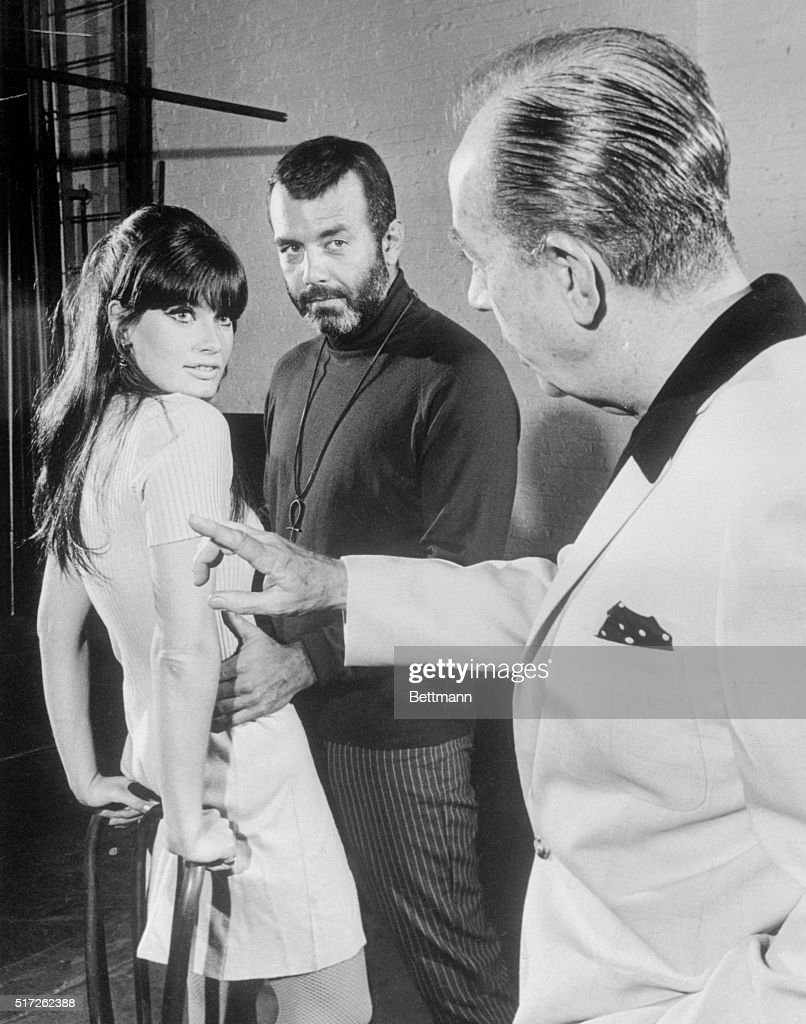 Director Vincente Minnelli (right) rehearses Marisa Mell and Pernell Roberts in a scene from Mata Hari, the David Merrick musical.