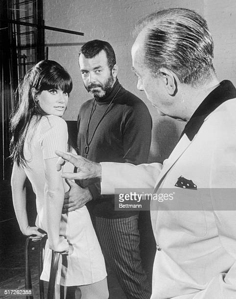 Director Vincente Minnelli rehearses Marisa Mell and Pernell Roberts in a scene from Mata Hari the David Merrick musical