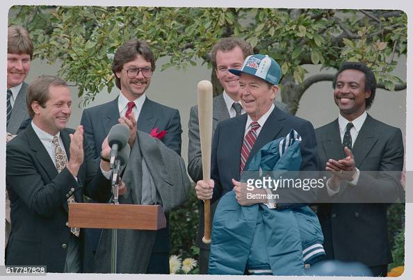 Ronald Reagan and Some Royals Baseball Team Members ...