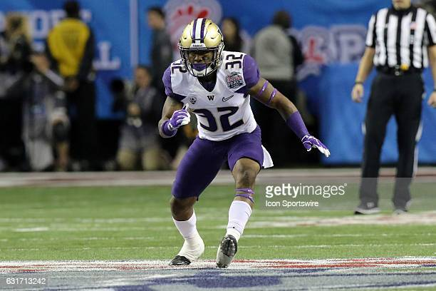 Washington Huskies defensive back Budda Baker during the College Football Playoff Semifinal at the ChickfilA Peach Bowl between the Washington...
