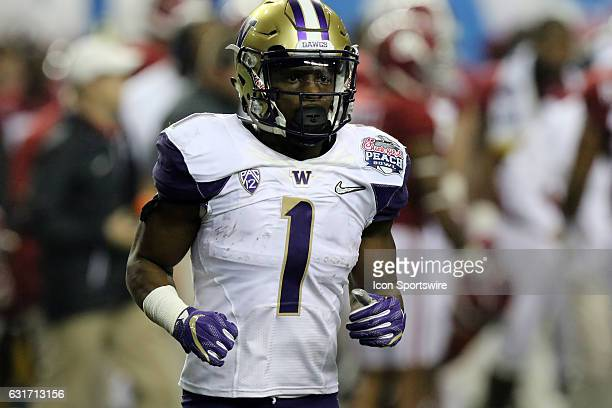 Washington Huskies wide receiver John Ross during the College Football Playoff Semifinal at the ChickfilA Peach Bowl between the Washington Huskies...