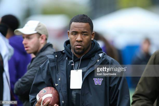 Washington Husky 2017 NFL draft prospect DB Budda Baker in attendance during the Spring Game on April 22 at Husky Stadium in Seattle Washington