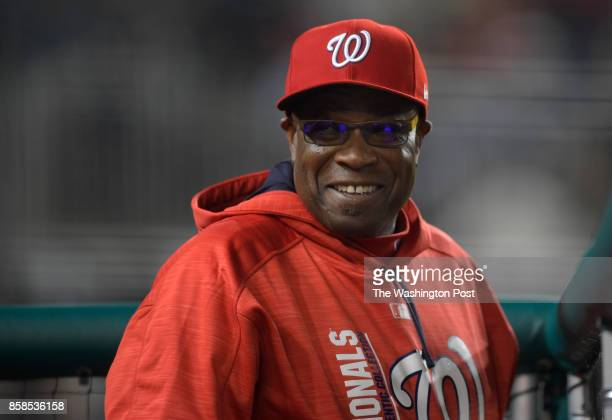 Washington manager Dusty Baker during the Washington Nationals defeat of the Miami Marlins 6 4 at Nationals Park in Washington DC April 5 2017