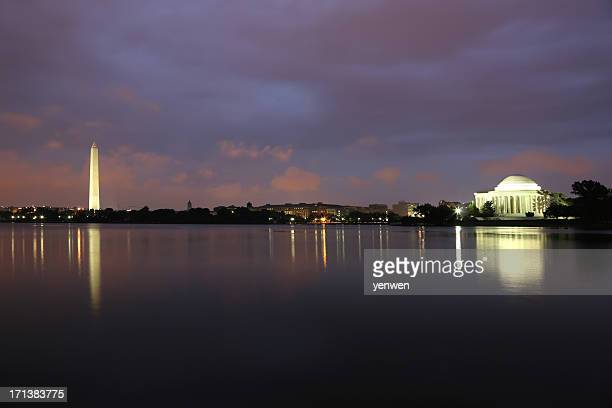 Washington Monument and Jefferson Memorial
