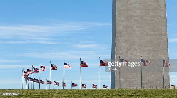 Washington Monument with Ring of National Flags