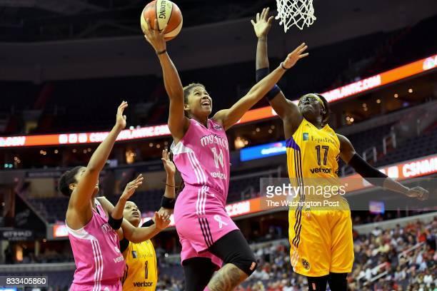 Washington Mystics guard Tierra RuffinPratt eyes the basket in the first half at the Capital One Arena August 16 2017 in Washington DC