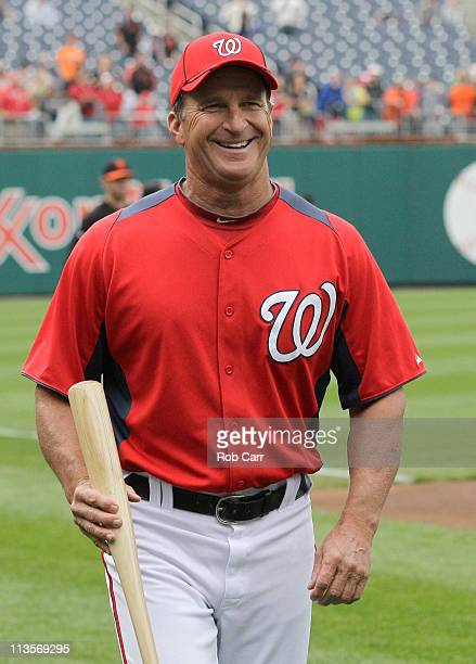 Washington Nationals manager Jim Riggleman before the start of Nationals game against the San Francisco Giants at Nationals Park on April 29 2011 in...